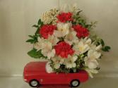 Little Red Sports Car Arrangement