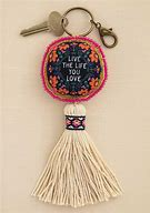 Live the life you love keychain