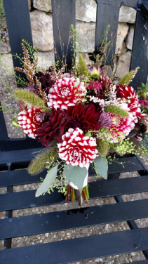 Lively Dahlias Bridesmaid bouquet