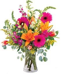 Lively Lilies & Gerberas Floral Design