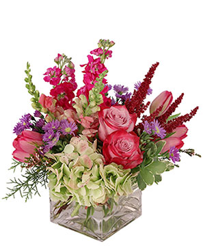 Lively & Luscious Vase Arrangement  in Oakland, ME | VISIONS FLOWERS & BRIDAL DESIGNS