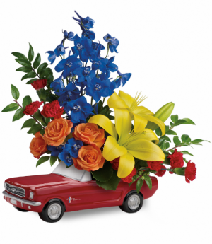 Living The Dream '65 Ford Mustang All-Around Floral Arrangement in Winnipeg, MB | KINGS FLORIST LTD