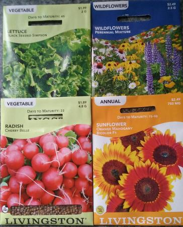Livingston Seed Packets