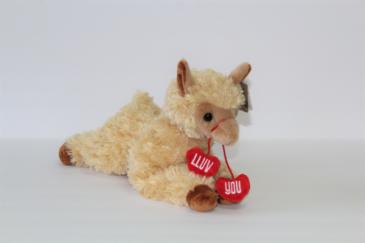 """""""Lluv You"""" Llama Stuffed Animal"""