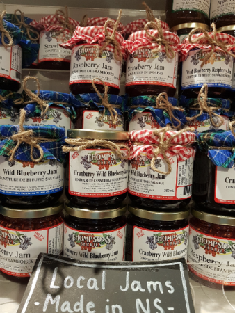 """""""THOMPSONS"""" JAMS  $10.- Local, no preservatives, no additives, simply delicious."""