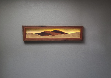 Locally crafted - Backlit Mountain Art - SunValley