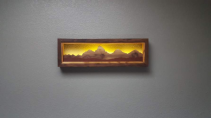 Locally crafted - Backlit Mountain Art - Tetons