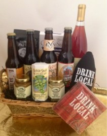 Loco Local Beer Wine & Snack Gift Basket