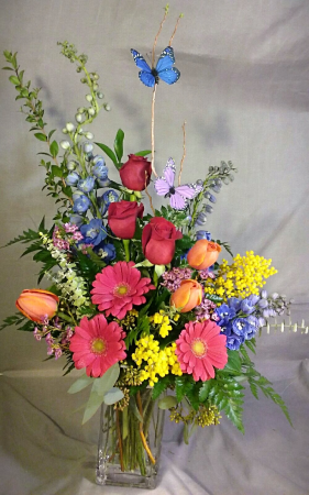 Colors of Spring mixed arrangement