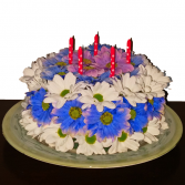 London Daisy Floral Cake