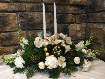 Long & Low Centerpiece Fresh Arrangement