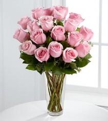 Long Stem Pink Rose Bouquet