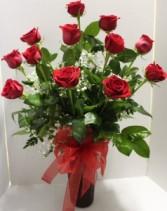 Long Stem Red  Rose Arrangement