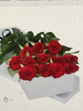 Long Stem Red  Boxed Roses