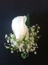 Long Stem Rose Boutonniere Boutonniere