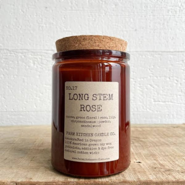 Long Stem Rose Candle