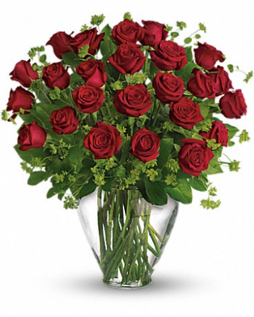 2 dozens of Long Stemmed Red Roses