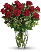 Long Stemmed Rose Arrangement Dozen in Cabot, Arkansas | Petals & Plants, Inc.
