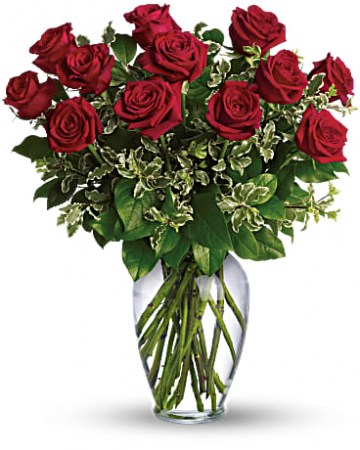Long Stemmed Rose Arrangement Dozen