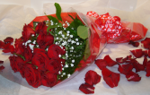 LONG STEMMED ROSES WRAPPED Bouquet