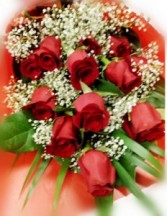 Long Stems Dozen Rose Bouquet Red