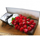 Long stems rose in gift box  Request color