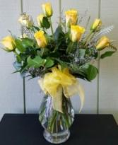 Long Stem Yellow Roses  Roses