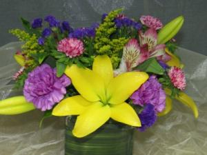 Looking Forward to Spring Cube Arrangement in Bend, OR | ANA'S ROSE N THORN