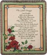 Lord's Prayer stainglass Inspirational Throw
