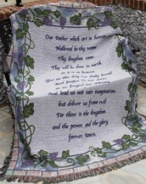 Lord's prayer Throw Sympathy gift item