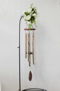 Lord's Prayer  Wind chime with fresh flowers