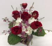V5 Hearts on Fire Fresh Flower Arrangement
