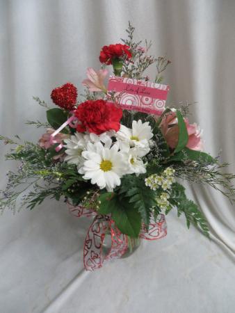 Lots Of Love Fresh Mixed Vased Arrangement