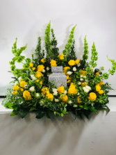 Lots of Yellow Sympathy Urn Urn Arrangement