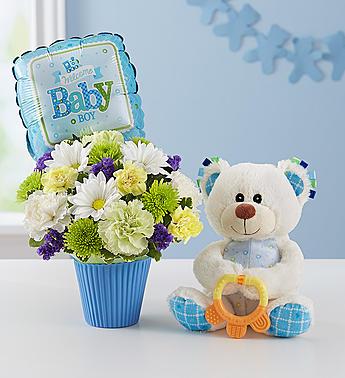 Lotsa Love Baby Boy 1-800 Flowers Gift
