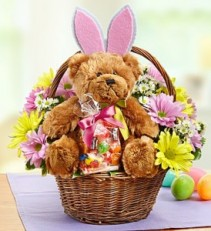 Lotsa Love Easter  Basket Flower Arrangement