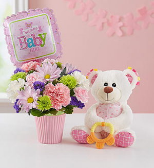 Lotsa Love® Welcome Baby Girl  in Camp Pendleton, CA | CAMP PENDLETON FLORIST