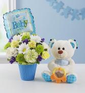 Lotsa Love Welcome Baby  new baby vase