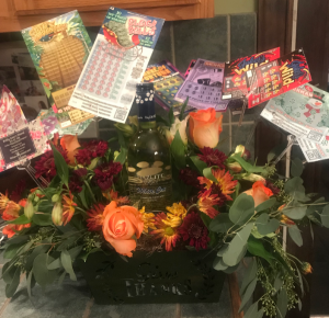 Lottery and wine gift baskets available  gift baskets in Wilkes Barre, PA | Kelly Ann's Floral
