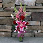 love always vase arrangement