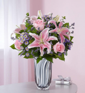 Love and Affection Silver Radiance Vase Arrangement