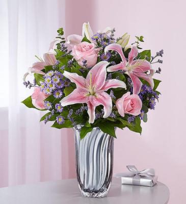 Love and Affection Silver Radiance Vase Arrangement