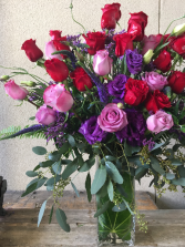 Love and Devotion Red and Lavender Roses