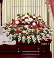 Love and Grace Sympathy Casket Spray