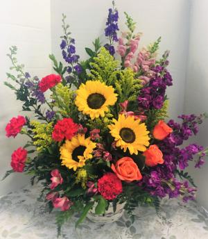 Love and Light Sympathy Arrangement in Gardner, KS | In Full Bloom Too