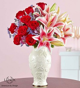 Love and Romance™ in Lenox® Fresh Arrangement