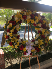 Love and sunshine Funeral wreath