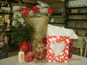 Love Bag (Large) Arrangement in Hialeah, FL | JACK THE FLORIST