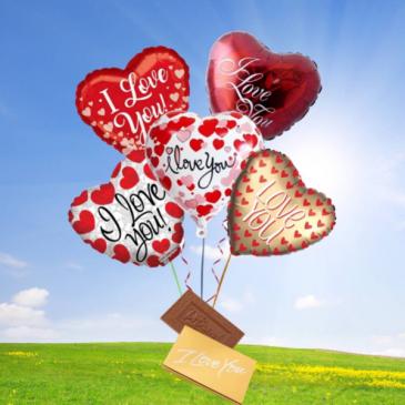 Love Ballon Bouquet-DeBrand candy bar
