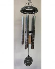 "Love Bears All 30"" wind chime Optional Stand with Bow"